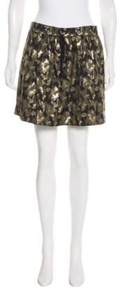 Gryphon Metallic-Accented Mini Skirt