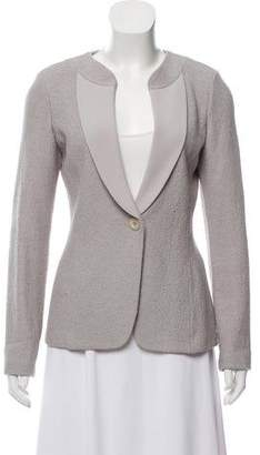 St. John Tweed Collarless Jacket