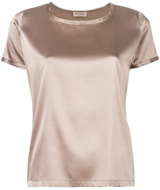 Blanca metallic short-sleeve top