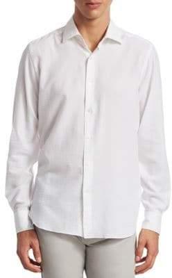 Saks Fifth Avenue COLLECTION Tonal Seersucker Button-Down Shirt