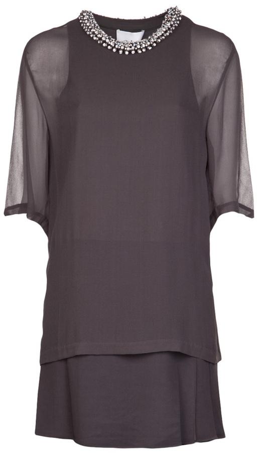 3.1 Phillip Lim beaded collar t-shirt dress