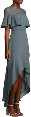 BCBGMAXAZRIA Women's Barbara High-Low Ruffle Gown