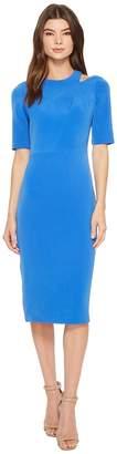 Maggy London Mini Bark Texture Split Shoulder Sheath Dress Women's Dress