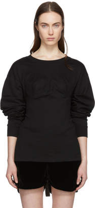 Facetasm Black Long Sleeve Underwire T-Shirt