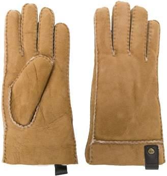 UGG leather trim gloves