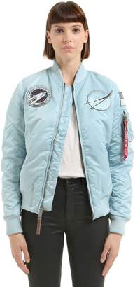 Alpha Industries Nasa Patches Nylon Bomber Jacket