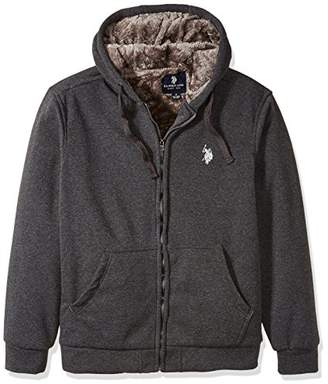 U.S. Polo Assn. Men's Sherpa Lined Fleece Hoodie