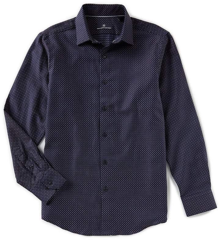 Hart Schaffner Marx Long-Sleeve Circle Jacquard Sportshirt