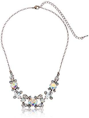 Sorrelli White Bridal Crossover Statement Necklace