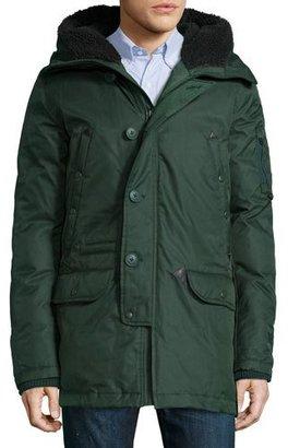 Spiewak Tech N3-B Snorkel Hooded Coat, Green $655 thestylecure.com