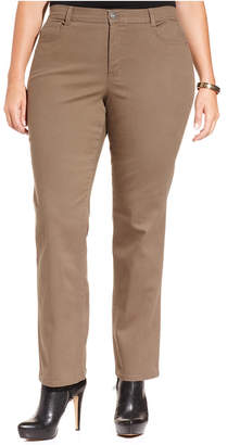 Style&Co. Style & Co Plus & Petite Plus Size Tummy-Control Slim-Leg Jeans, Created for Macy's