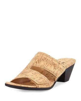 Sesto Meucci Paidyn Cork Low Slide Sandal, Beige $170 thestylecure.com