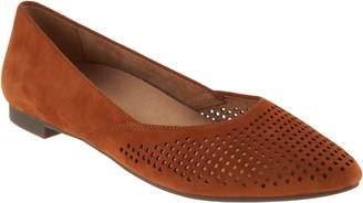 Vionic Perforated Suede Flats - Posey