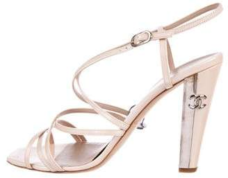 Chanel CC Patent Leather Sandals