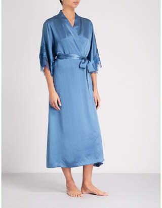 Nk Imode High Spirit lace and silk-satin robe