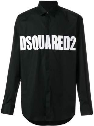 DSQUARED2 logo printed shirt