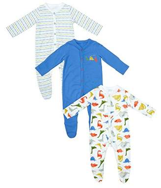 Mothercare Baby Boys 3 Pack Sleepsuits Dinosaur,(Size: 80)