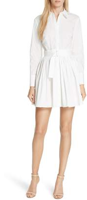 Nicholas Pleated Poplin Shirtdress