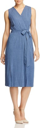 B Collection by Bobeau Kate Geo Chambray Faux-Wrap Dress $118 thestylecure.com