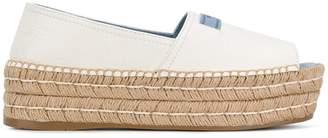 Prada open-toe flatform espadrilles