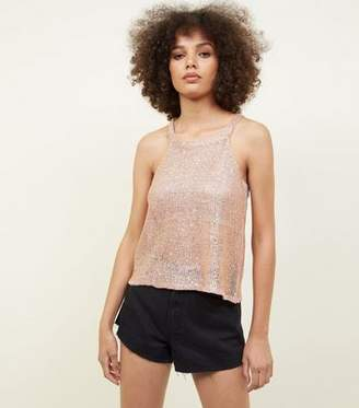 Tokyo Doll Gold Sequin Knit Top