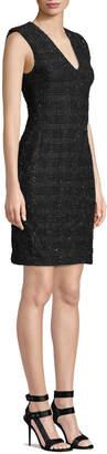 Alice + Olivia Adelaide Strong-Shoulder Dress