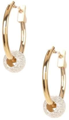 Candela 14K Yellow Gold & Sterling Silver Beaded 13mm Hoop Earrings