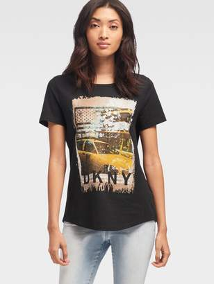 DKNY Taxi Graphic Tee