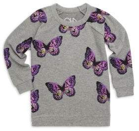 Chaser Little Girl's& Girl's Butterflies Sweatshirt