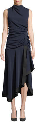 Camilla And Marc Yolanda Sleeveless Draped & Ruched Dress