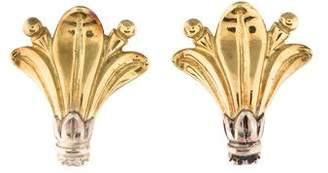 Lagos Two Tone Floral Ear Clip Earrings