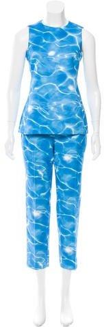 Michael Kors Water Print Pant Set