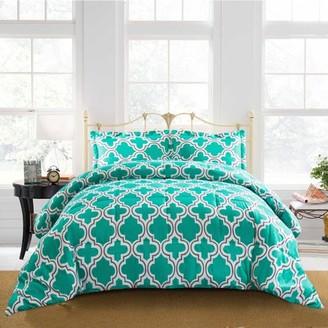 Superior Trellis Reversible Hypoallergenic,Down Alternative Comforter Set