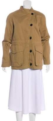 Dries Van Noten High-Low Zip-Up Jacket