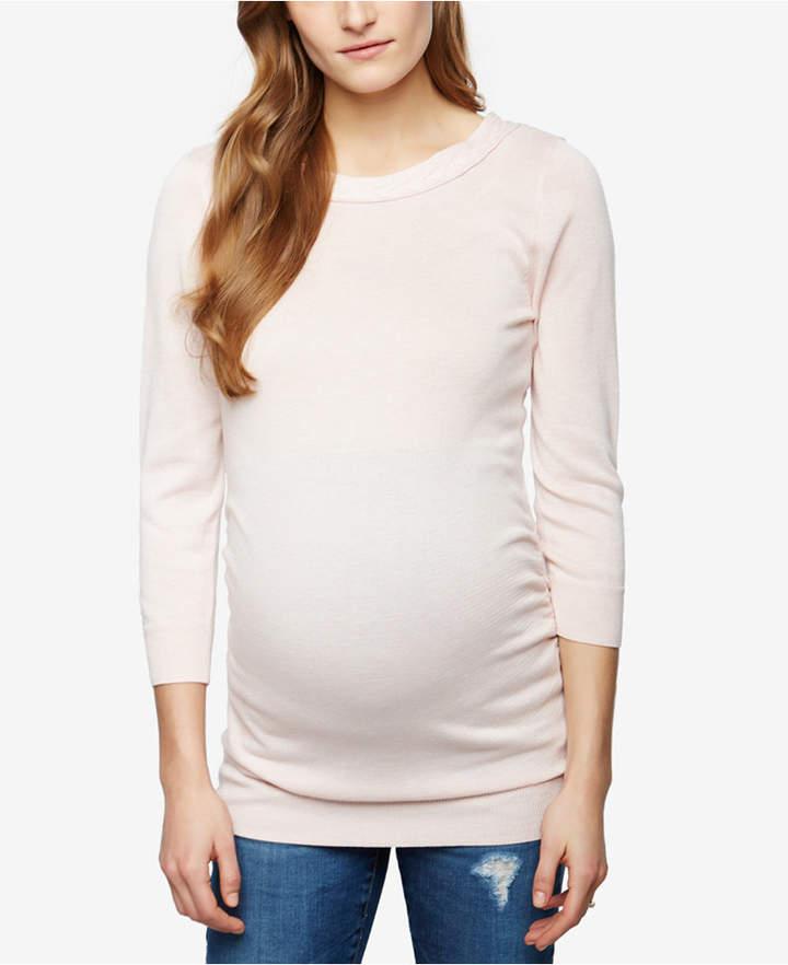 A Pea In The PodA Pea In The Pod Maternity Boat-Neck Sweater