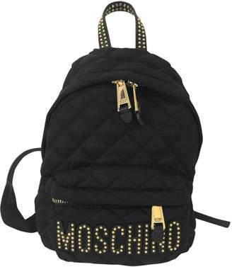 Moschino Black Synthetic Backpacks