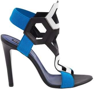 Dirk Bikkembergs Blue Leather Heels