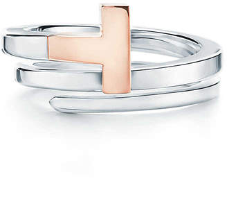375bfcd968 Tiffany & Co. & Co. T square wrap ring in 18ct rose gold and