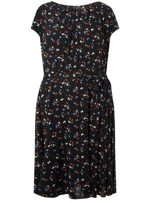 d860cc479117 Dorothy Perkins Womens   Billie   Blossom Curve Black Bow Skater Dress