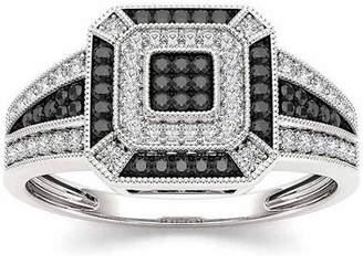 Imperial Diamond Imperial 1/8 Carat T.W. Diamond 10kt White Gold Black and White Fashion Ring