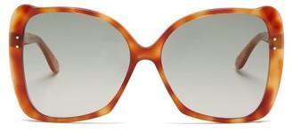 Gucci Butterfly Tortoiseshell Acetate Sunglasses - Womens - Tortoiseshell