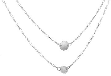 Other Designers Long Silver Chain with Discs