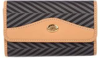 Mark Cross Leather-Trimmed Key Holder