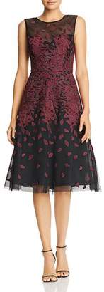 BCBGMAXAZRIA Embroidered Tulle Dress