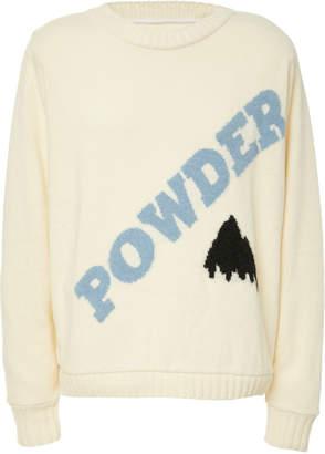 The Elder Statesman Powder Intarsia Cashmere Sweater