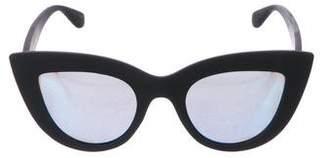 Quay Rubberized Cat-Eye Sunglasses