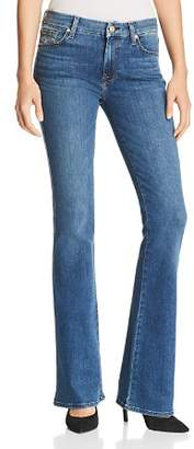 7 For All Mankind Embroidered-Pocket Flared Jeans in Glam Medium