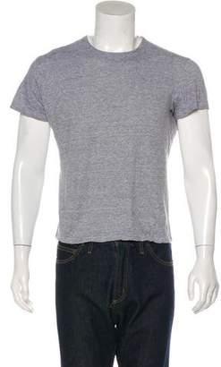 Isaia Linen-Blend Crew Neck T-Shirt