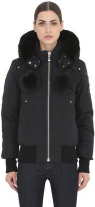 Debbie Down Bomber Jacket W/Fur $795 thestylecure.com