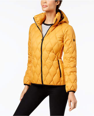 Michael Kors Diamond-Quilted Puffer Coat